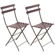 Fermob's <b>Bistro</b> Metal <b>chair</b>, <b>2 pcs</b>, russet (With images) | Metal ...
