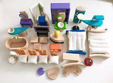 Plan Toys Dollhouse    Lot Of Wood Wooden Dollhouse Furniture Plan Toys Assort  Pieces Ex  Condition