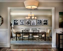 decorated model home dining room wainscoting