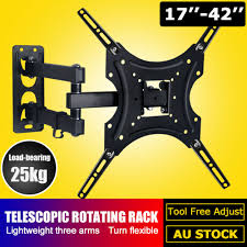 <b>Full Motion TV Wall</b> Mount Bracket Swivel For 10-42inch LCD VESA ...