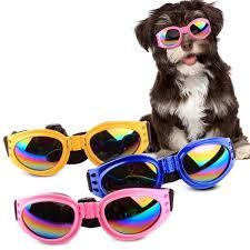 uv sunglasses waterproof dog protection goggles foldable pet glasses eyewear medium large