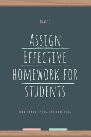 Should Students Have Homework    Strategies for Assigning     Learners Edge How to modify assign effective homework png