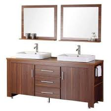 dwell bathroom cabinet: d vanity in toffee with wood vanity