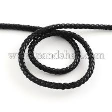 Braided PU Leather Cord, Imitation <b>Leather Cord for Bracelet</b> ...