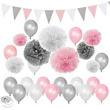 <b>Pink</b> and Silver <b>Party Decorations</b>: Amazon.co.uk
