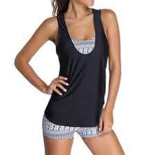<b>Women's Tankini Swimsuits</b> - <b>Attraco Womens</b> Rita Tiered <b>Tankini</b> ...