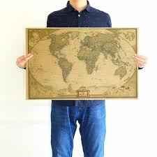 World Map <b>Deluxe Black Decoration</b> Scratch World Personalized ...