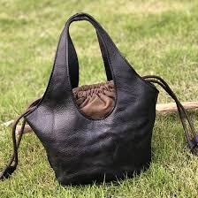 <b>Womens Drawstring Bucket Bag</b> Soft Leather Tote <b>Bag</b> Purse ...