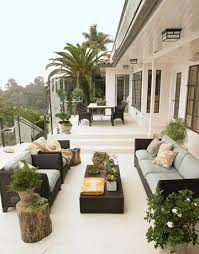 gorgeous chic city deck patio space black outdoor furniture