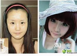on june 3rd 2016 the internet humor site acidcow 10 posted a gallery of makeup transformation photographs featuring asian women shown below