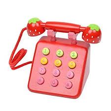 Buy Samber <b>Kid's Toy</b> Telephone Set <b>Simulation Wooden</b> ...