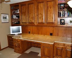 kitchen cabinets home office transitional: granite top desk home office with built in desk granite
