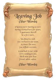 personalised leaving job poem a scroll in retirement personalised leaving job poem a4 scroll