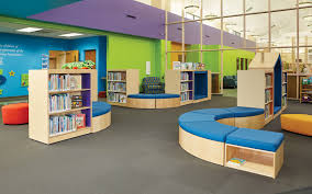 demcos colorscape shelving and furniture lends itself nicely to creating interesting landscapes mobile shelving children library furniture