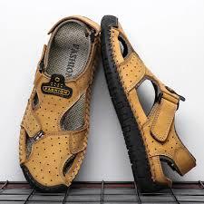 <b>New</b> Casual Men <b>Sandals Comfortable</b> Men Summer Genuine ...
