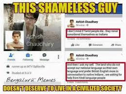 Anusha Natarajan's Fitting Reply To Ashish Chaudhary Who Posted ... via Relatably.com