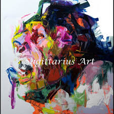 <b>Hand Painted abstract</b> Cool face Art <b>Abstract</b> Oil Painting Canvens ...