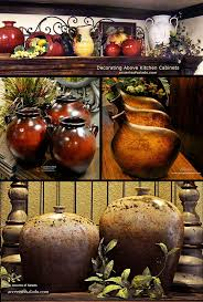 ideas china hutch decor pinterest: atips and ideas for decorating above kitchen cabinets pots pots pots a