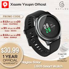 <b>Haylou</b> Solar LS05 Smart Watch Sport Metal Heart Rate Sleep ...