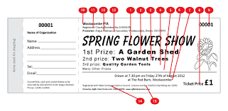 spring show ticket raffle ticket printers spring design raffle ticket