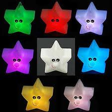 Hot!!  <b>Shiny</b> Star Shape 7-<b>Color Changing</b> Night Light Bedroom ...