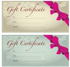 gorgeous gift certificate design template example brown and it