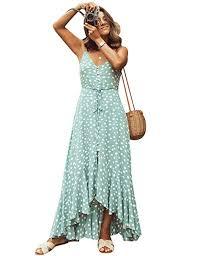 <b>PICK YOUR LOOK Women's</b> Summer Polka Dot Ruffle <b>Dress</b> ...