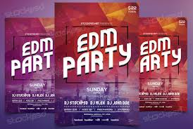 edm party psd flyer template psd flyer edm party psd flyer template