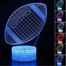 <b>Football 3D Night Light</b> - <b>3D</b> Illusion Lamp for Boys 16 Changing ...
