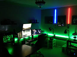 witching home office interior design enchanting computer room design ideas with colorful lighting and amazing setups best lighting for home office