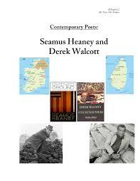the poetry of seamus heaney walcott by paul sanders issuu