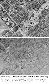 hiroshima professor olsen large hiroshima before and after aerial photos