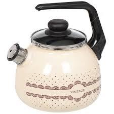 <b>Чайник эмалированный</b> Appetite Vintage 4с209я <b>со свистком</b>, 3 л ...