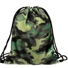 Fashion Unisex Camouflage Drawstring Backpack 3D <b>Printing</b> ...