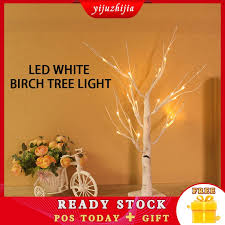 <b>LED White Birch</b> Tree <b>Night Light</b> Table <b>Lamp</b> Christmas Wedding ...