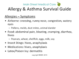 Allergy & Asthma Prevention- Main Street Medical Care