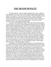 Effectiveness of death penalty research paper