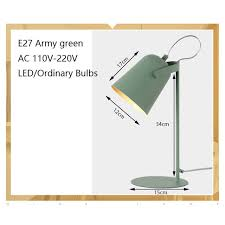Modern art deco painted <b>Nordic style</b> creative <b>desk</b> Lamps E27 <b>LED</b> ...
