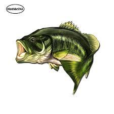 HotMeiNi 13cm x <b>10.8</b>cm <b>Car</b> Styling Large Mouth Bass <b>Fish Fishing</b> ...
