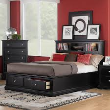bedroom remarkable wood queen bed frame with drawers design ideas smart size black painted wooden two black painted bedroom furniture