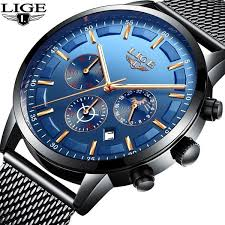 <b>LIGE Fashion Men</b> Watches Male Top Brand Luxury Quartz Watch ...