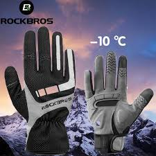 ROCKBROS Touch Screen <b>Cycling Gloves Autumn Winter</b> Thermal ...