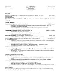 resume samples   uva career centerresume example julia dreyfus