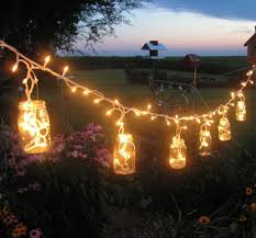 hanging mason jar lights backyard lighting ideas
