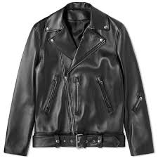 Acne Studios Nate <b>Clean Leather</b> Jacket <b>Black</b> | END.