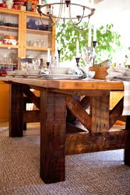 barn kitchen table post beam legs i like this as an island in the kitchen
