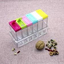 <b>1set</b> 6 <b>Spice</b> Jar Kitchen <b>Condiment Box</b> Acrylic <b>Spices</b> Storage ...