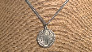 """<b>Sterling Silver St. Benedict</b> Medal with 24"""" chain 