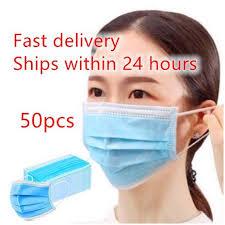 <b>50 pcs 3</b>-<b>layer</b> Earloop Disposable Breathable Mask Comfortable ...