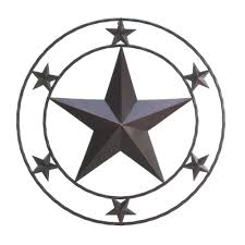 metal star wall decor: wholesale wrought iron texas star wall decor stars in circles metal wall decoration